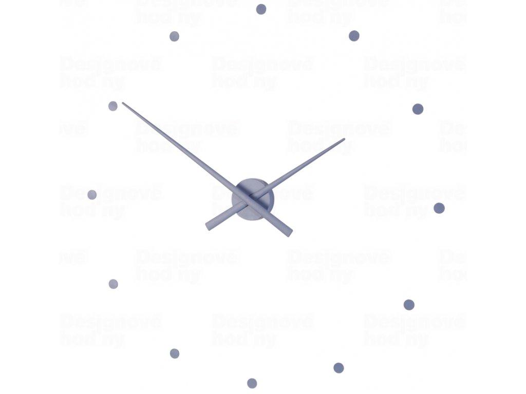 Designové nástěnné hodiny NOMON OJ ocelově modré 80cm