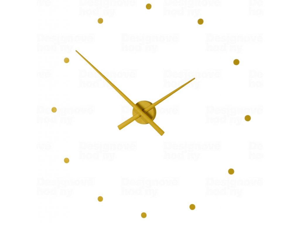 Designové nástěnné hodiny NOMON OJ hořčicové 80cm