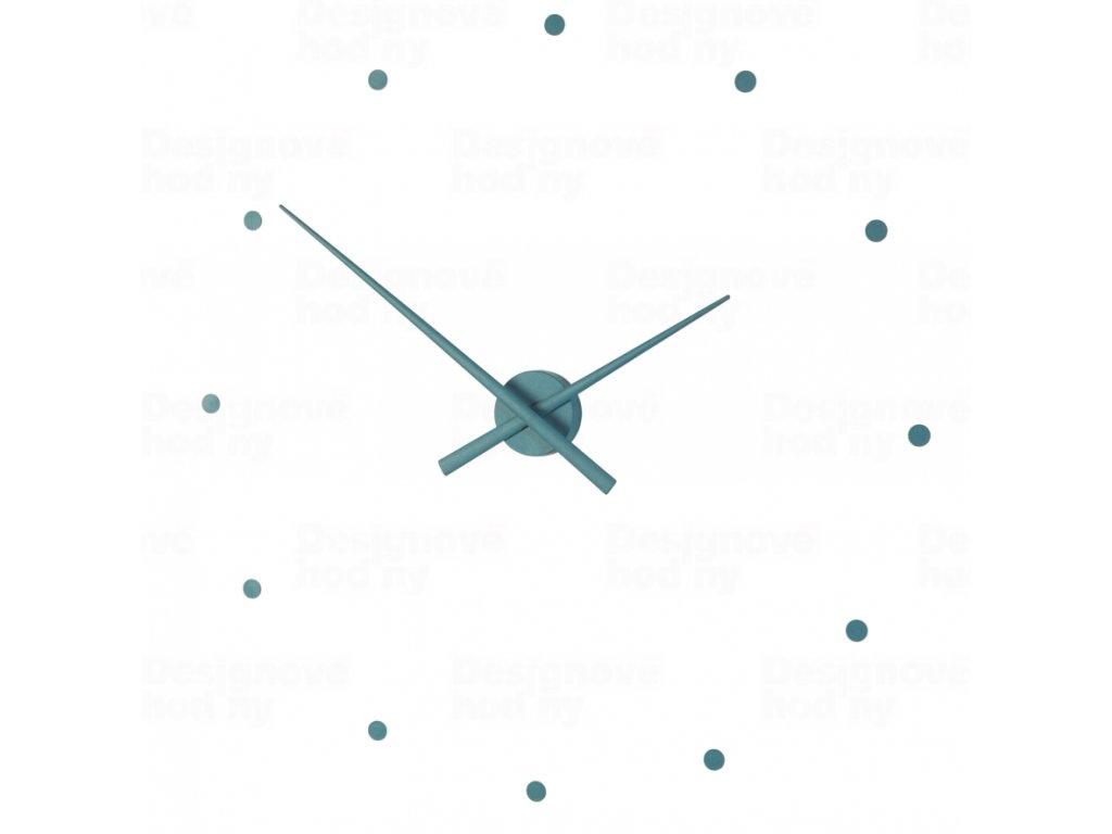 Designové nástěnné hodiny NOMON OJ mořská zelenomodrá 80cm