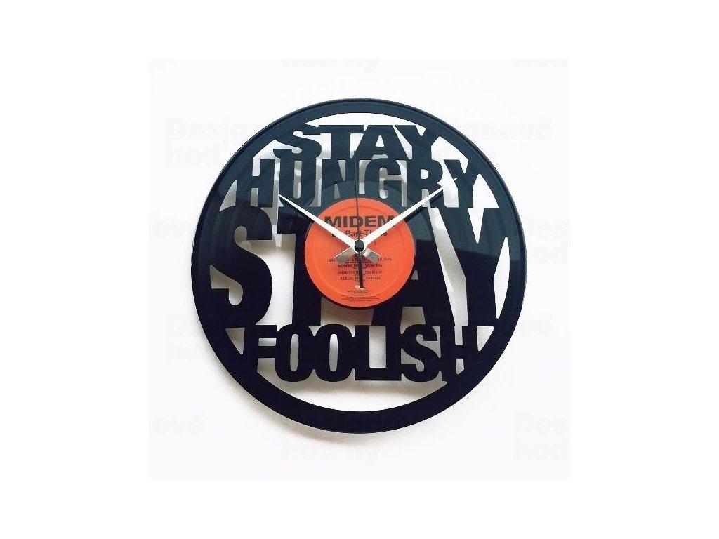 Designové nástěnné hodiny Discoclock 065 Hungry 30cm