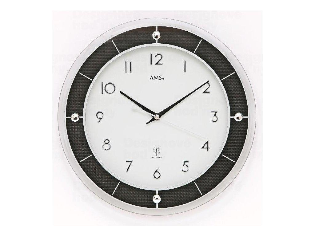 Nástěnné hodiny 5854 AMS řízené rádiovým signálem 31cm