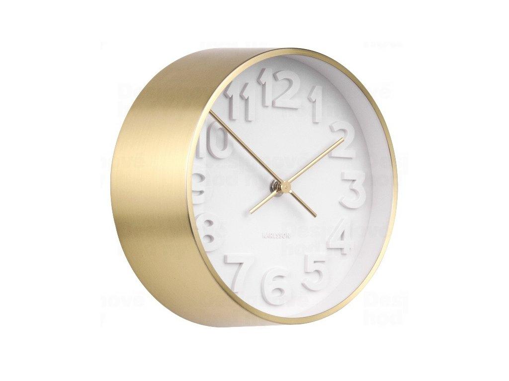 Designové nástěnné hodiny 5692GD Karlsson 22cm