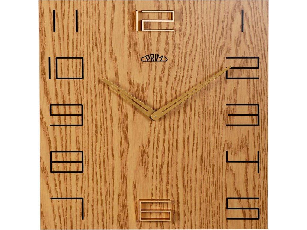 Nástěnné hodiny PRIM Wood Touch I