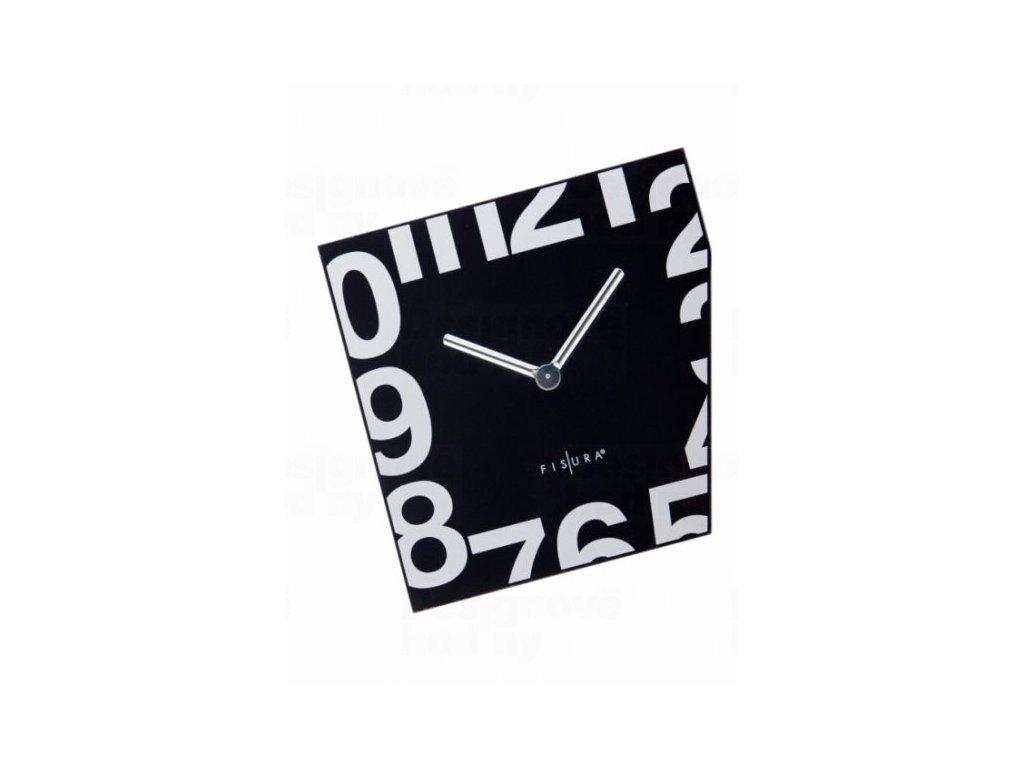 Fisura nástěnné hodiny Esquina Black 21cm