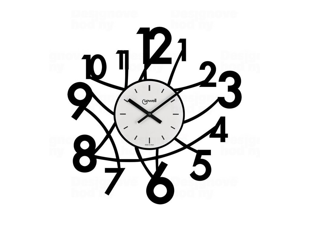 Designové nástěnné hodiny Lowell 05833N Design 50cm