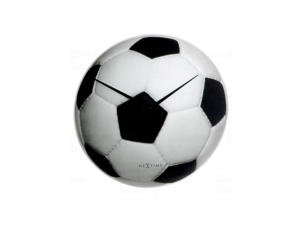 Designové nástěnné hodiny Nextime Fotbal Johan 8804
