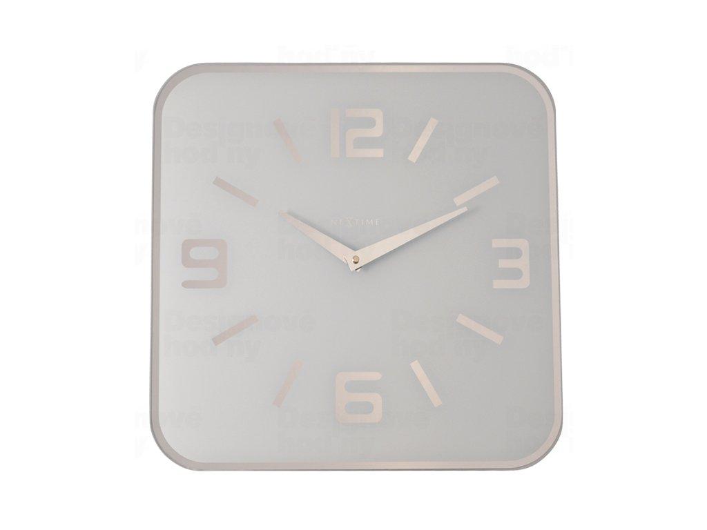 Designové nástěnné hodiny 8149wi Nextime Shoko 43cm