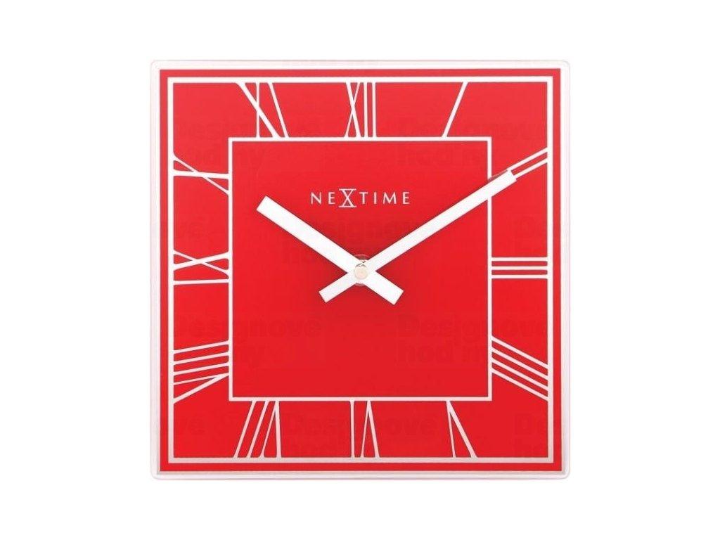 Designové nástěnné hodiny 5184ro Nextime Square 20cm
