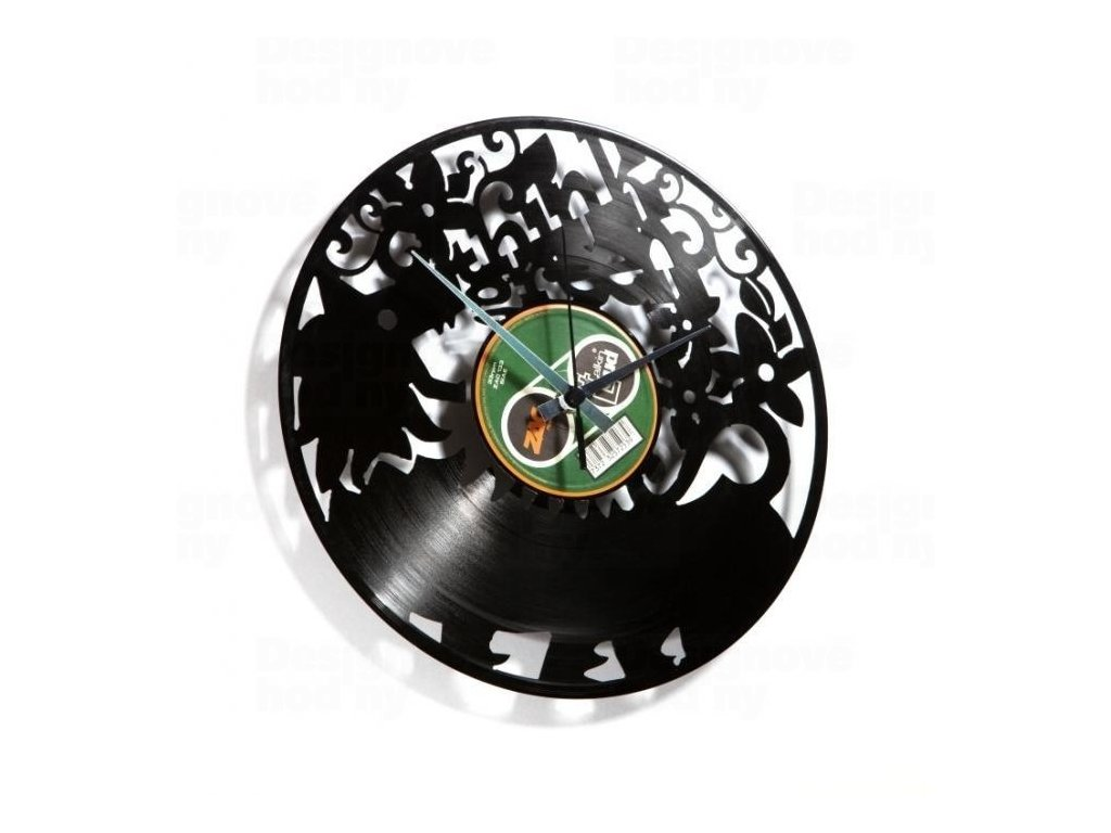 Designové nástěnné hodiny Discoclock 009 Think green 30cm