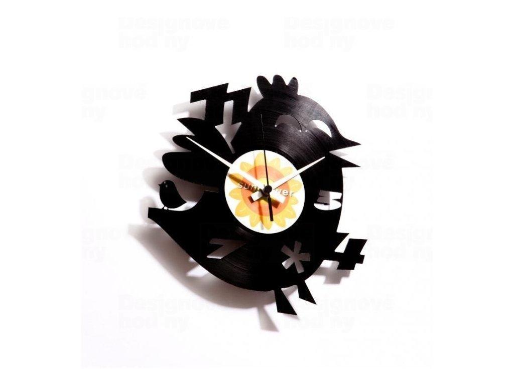 Designové nástěnné hodiny Discoclock 012 Twitter's dumb brother 30cm