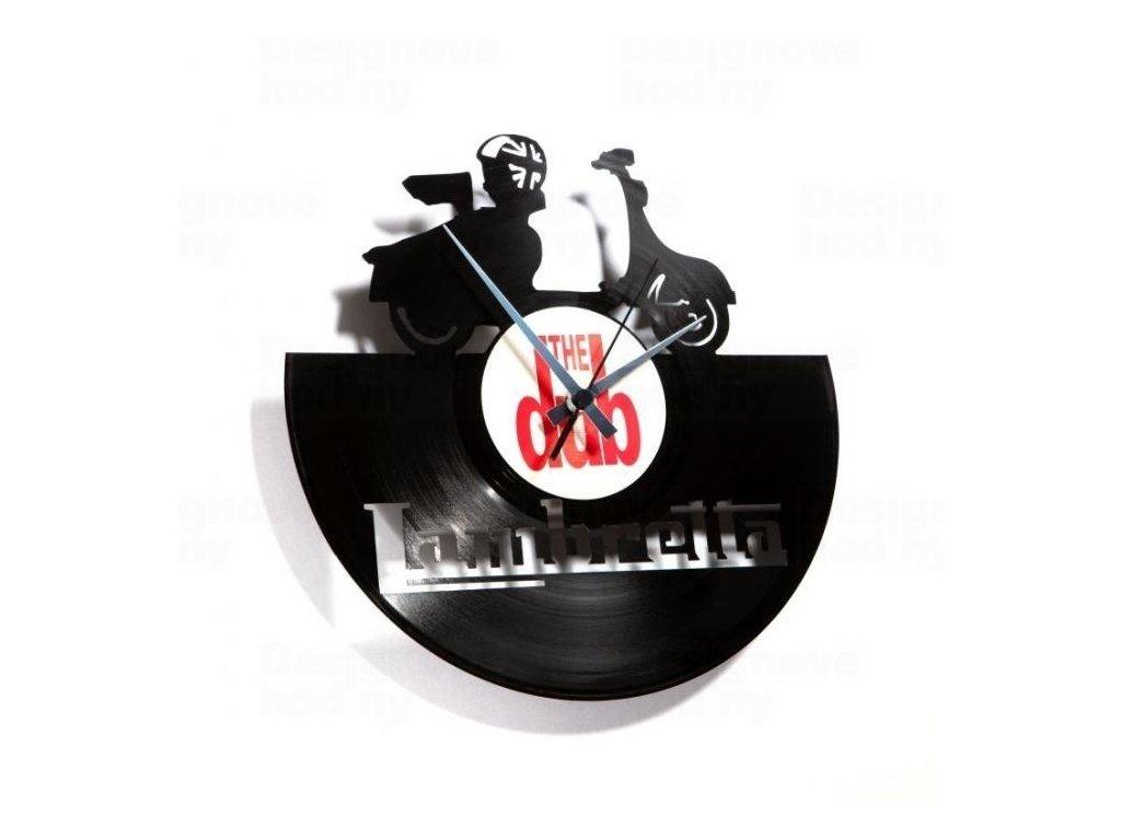 Designové nástěnné hodiny Discoclock 033 Lambretta 30cm