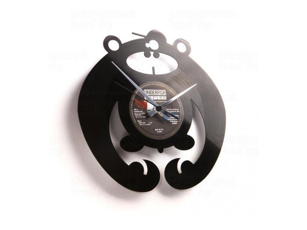 Designové nástěnné hodiny Discoclock 037 King of the bongo 30cm