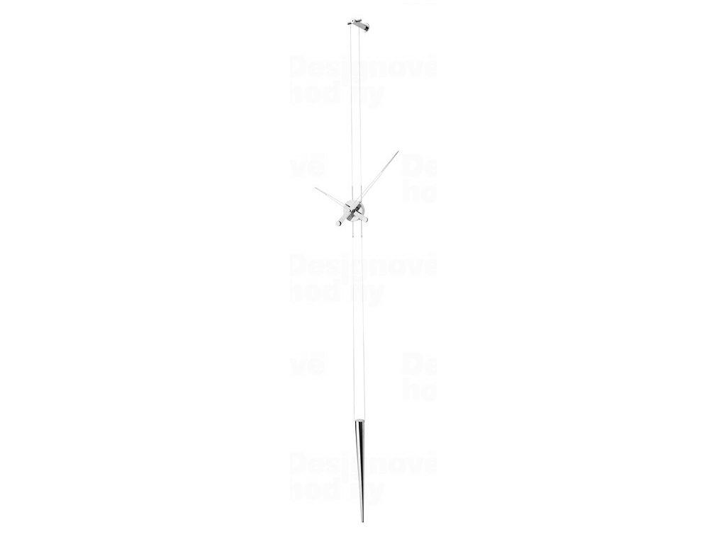 Designové nástěnné hodiny Nomon Pendulo inox