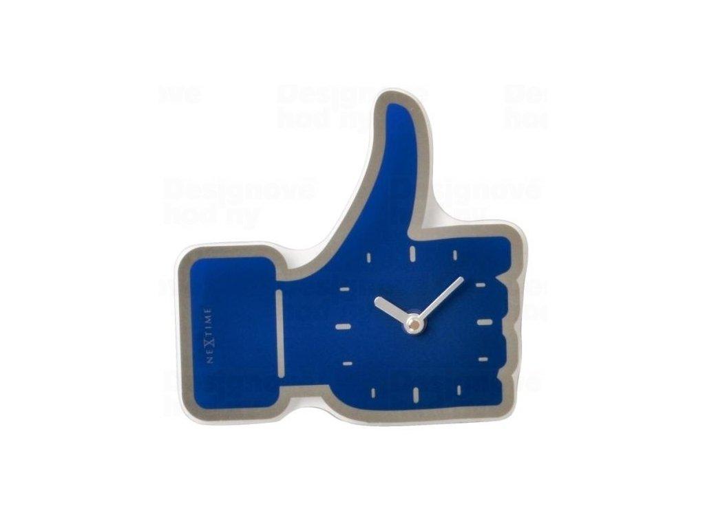 Designové nástěnné hodiny 5185bl Nextime mini Facebook Like 21cm