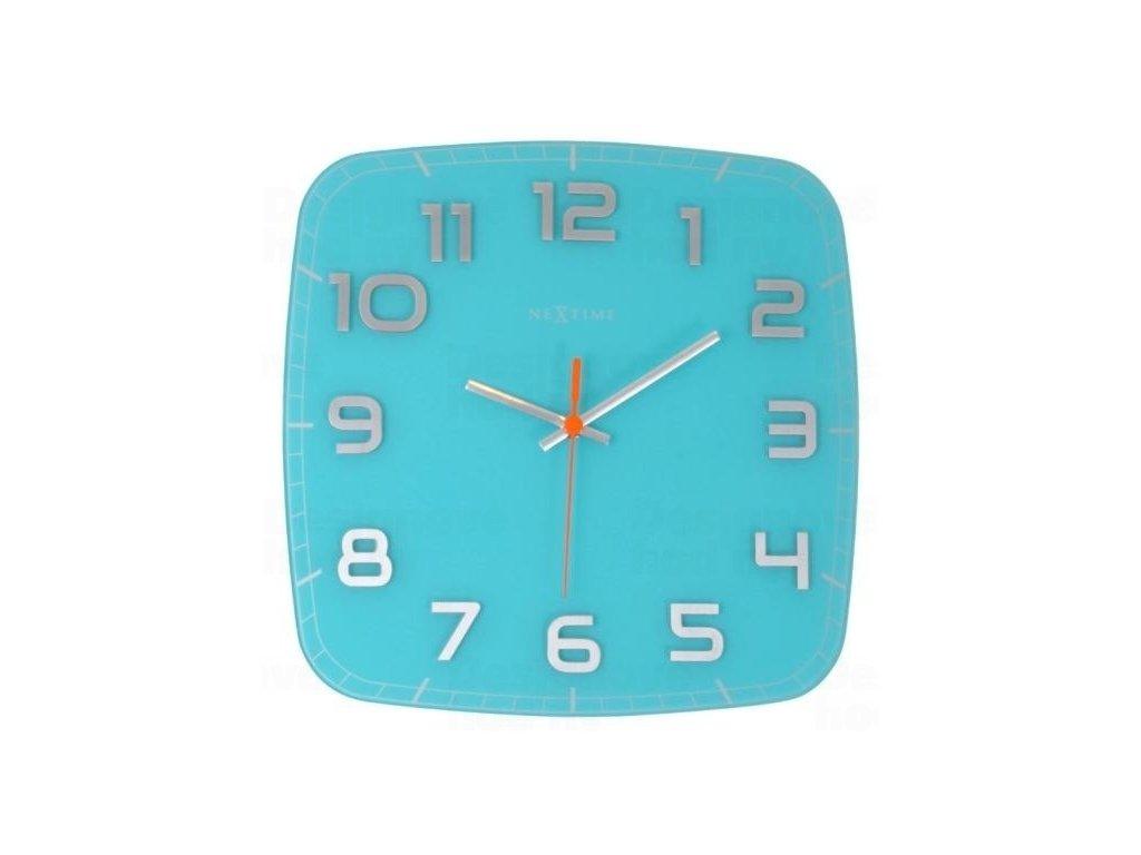 Designové nástěnné hodiny 8816tq Nextime Classy square 30cm