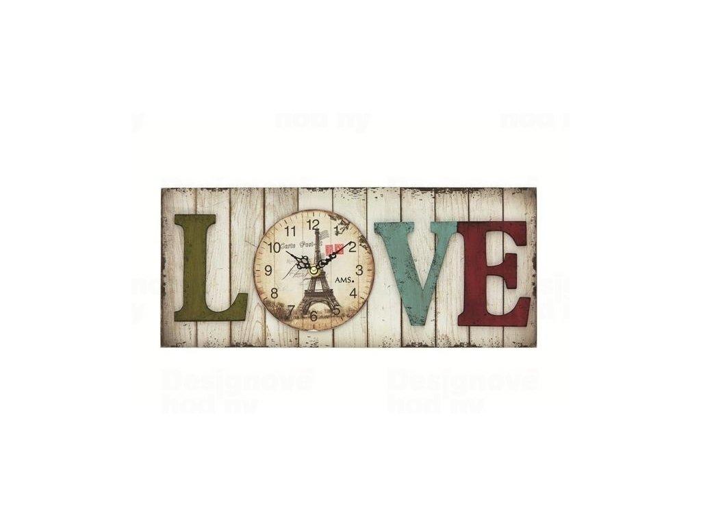 Nástěnné hodiny 9429 AMS 40cm