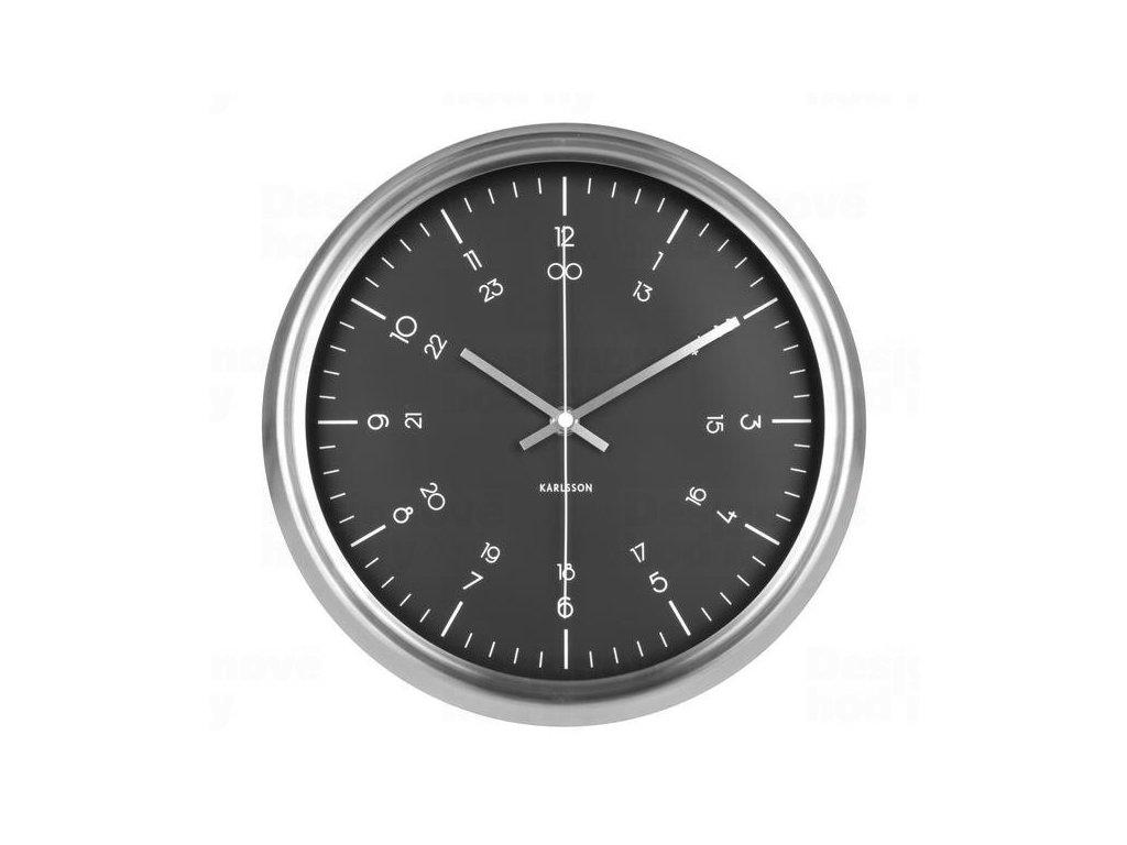 Designové nástěnné hodiny KA5597BK Karlsson 30cm