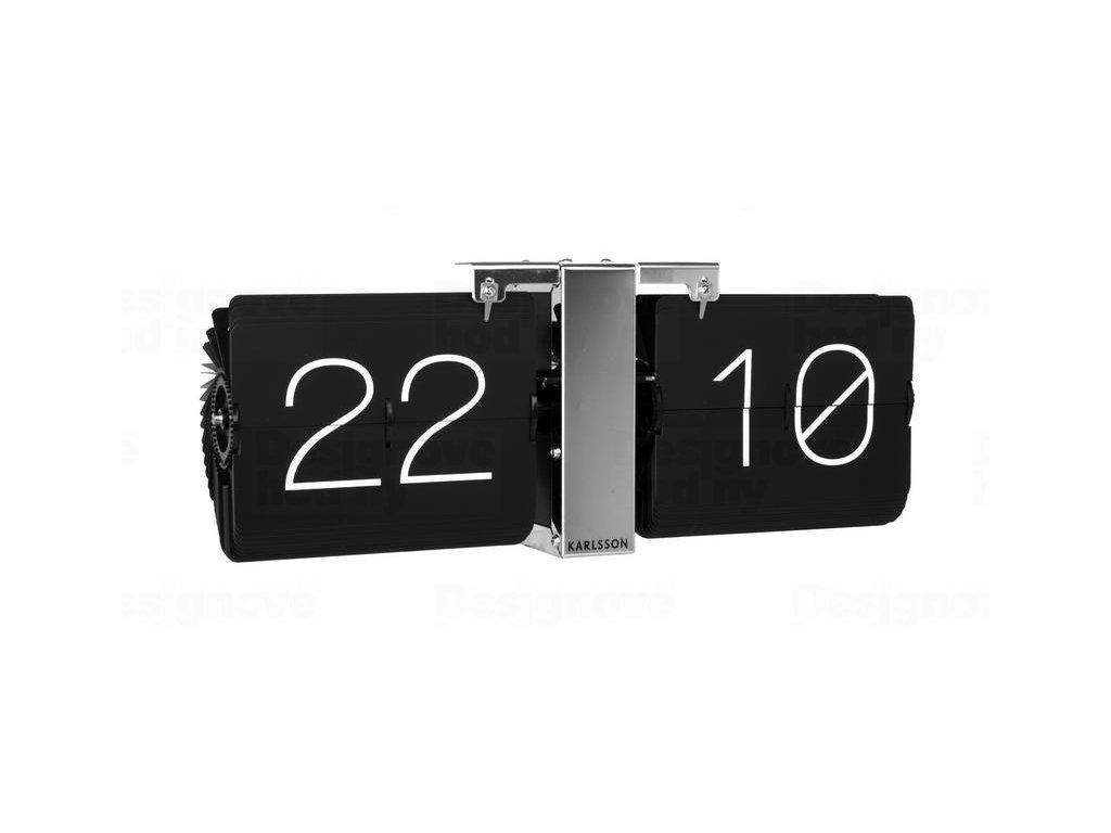 Designové překlápěcí hodiny KA5601BK Karlsson 36cm