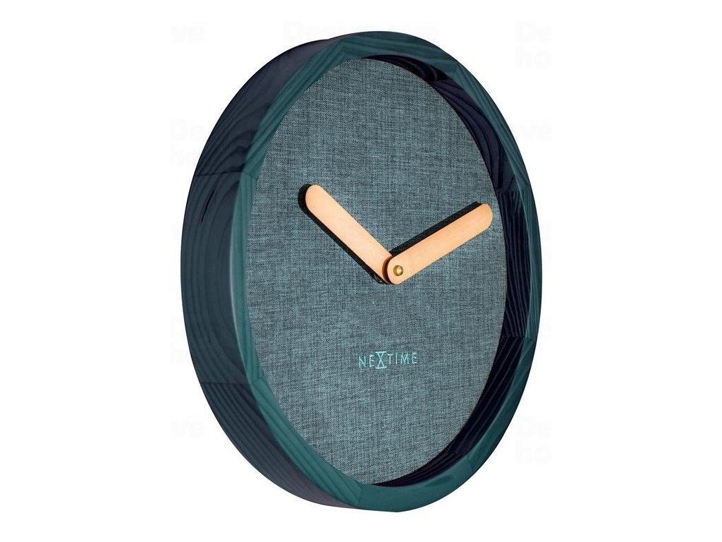 Designové nástěnné hodiny 3155tq Nextime Jeans Calm 30cm