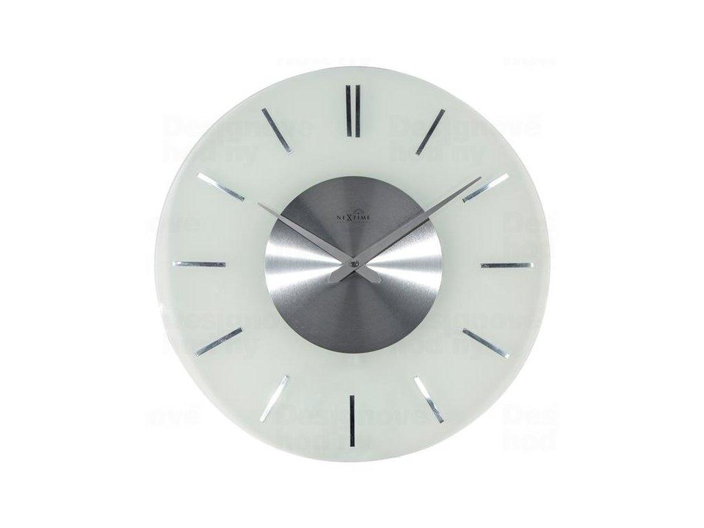 Designové nástěnné hodiny řízené signálem DCF 3147 Nextime Stripe 40cm