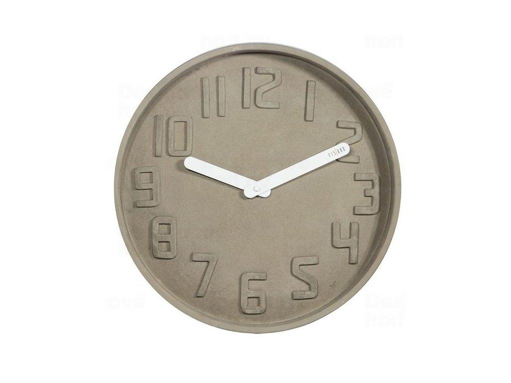 Designové nástěnné kameninové hodiny CL0127 Fisura 35cm