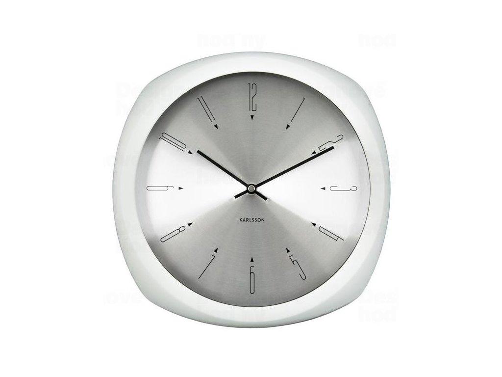 Designové nástěnné hodiny 5626WH Karlsson 31cm