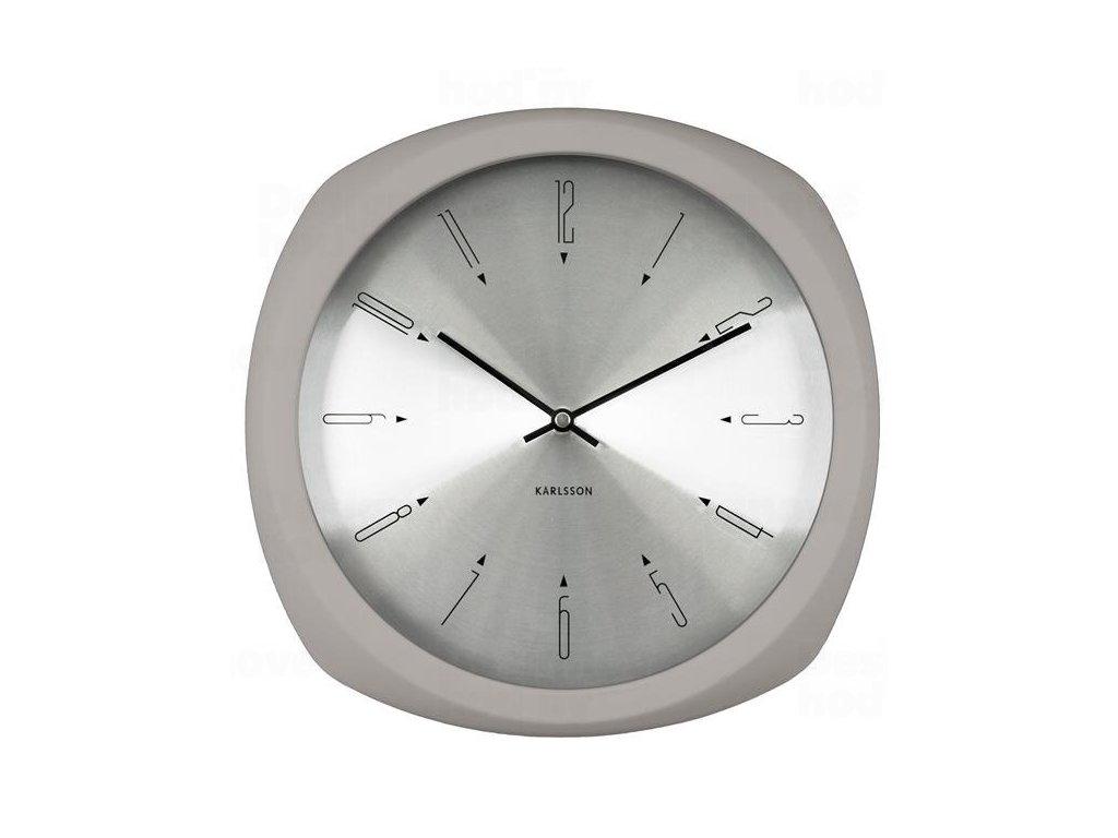 Designové nástěnné hodiny 5626GY Karlsson 31cm
