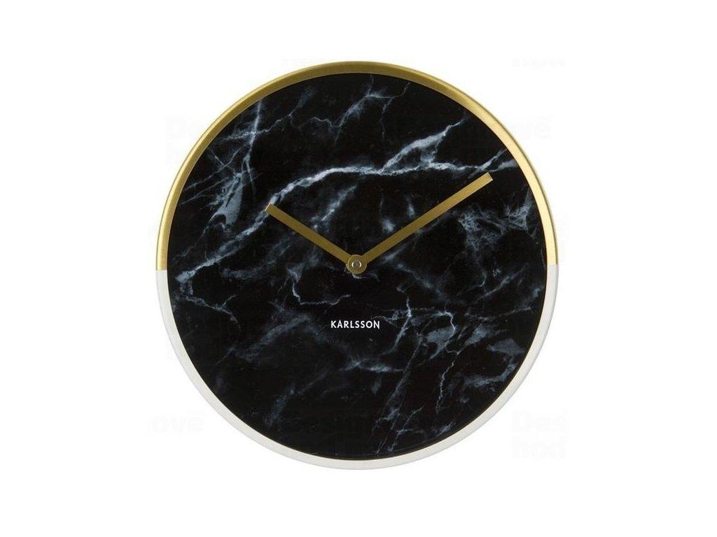 Designové nástěnné hodiny 5606BK Karlsson 30cm