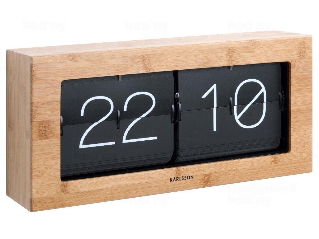 Designové nástěnné/stolní překlápěcí hodiny 5642WD Karlsson 37cm
