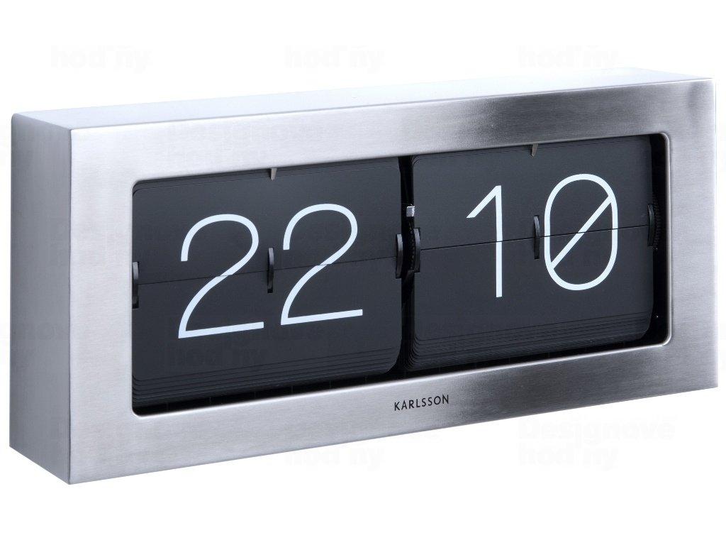 Designové nástěnné/stolní překlápěcí hodiny 5642ST Karlsson 37cm