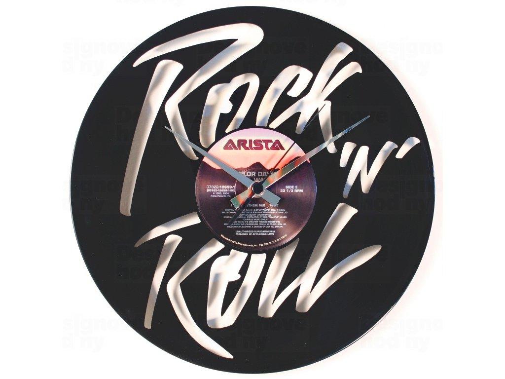 Designové nástěnné hodiny Discoclock 105 Rock n roll 30cm
