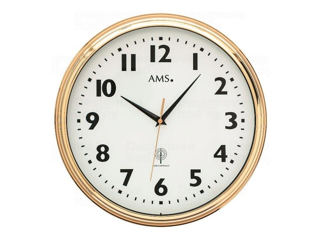 Nástěnné hodiny 5963 AMS řízené rádiovým signálem 32cm