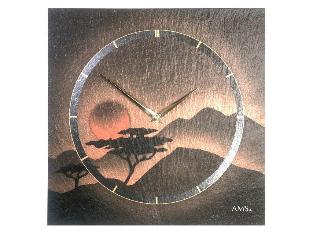 Designové nástěnné břidlicové hodiny 9515 AMS 30cm