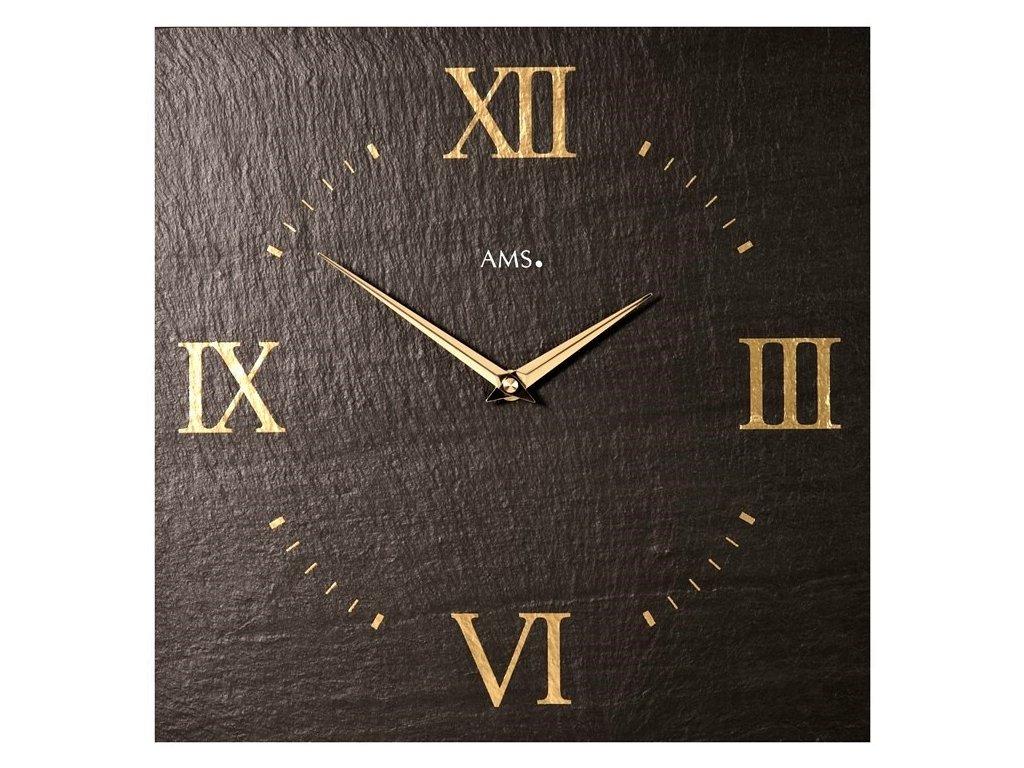 Designové nástěnné břidlicové hodiny 9517 AMS 30cm