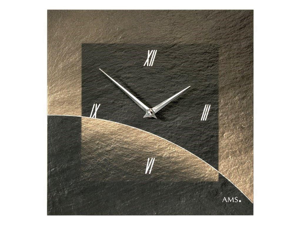 Designové nástěnné břidlicové hodiny 9519 AMS 30cm