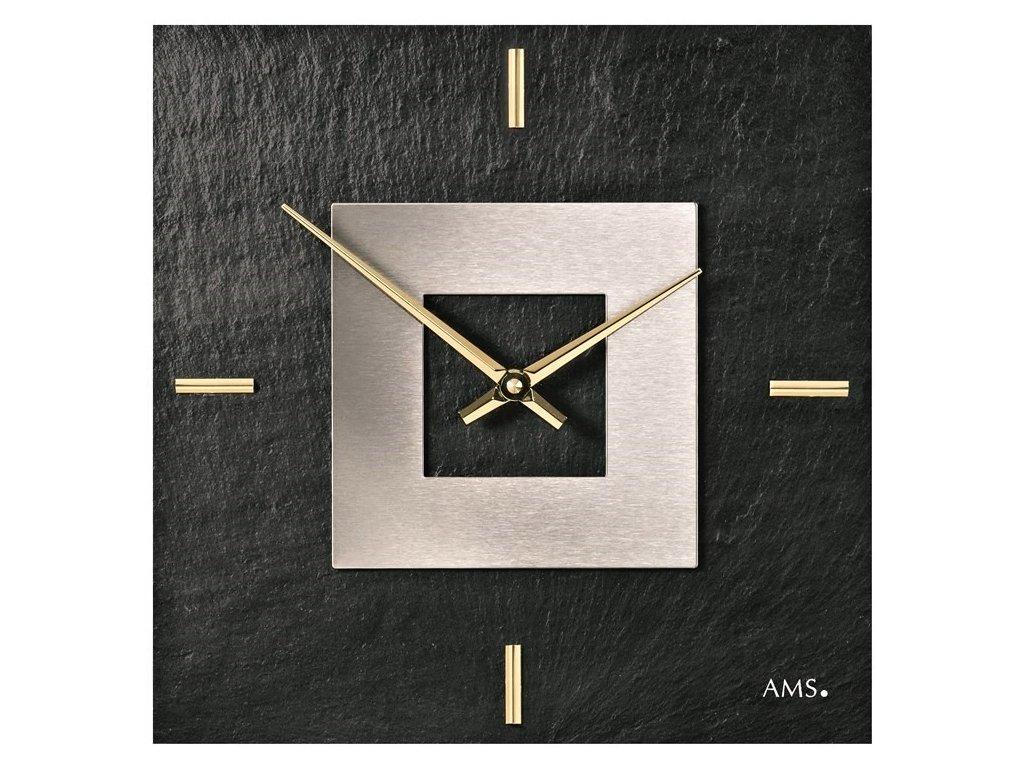 Designové nástěnné břidlicové hodiny 9525 AMS 30cm