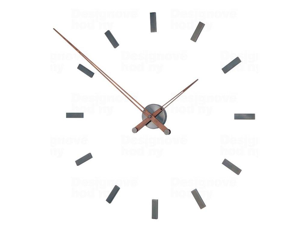 Designové nástěnné hodiny Nomon Tacon Graphite 100cm