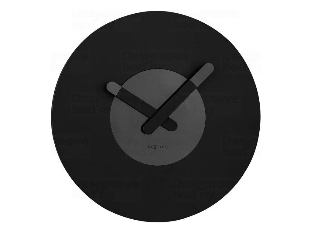 Designové nástěnné hodiny 3189zw Nextime In Touch 40cm
