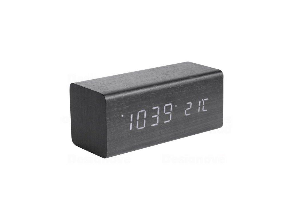Designový LED budík - hodiny 5652BK Karlsson 16cm