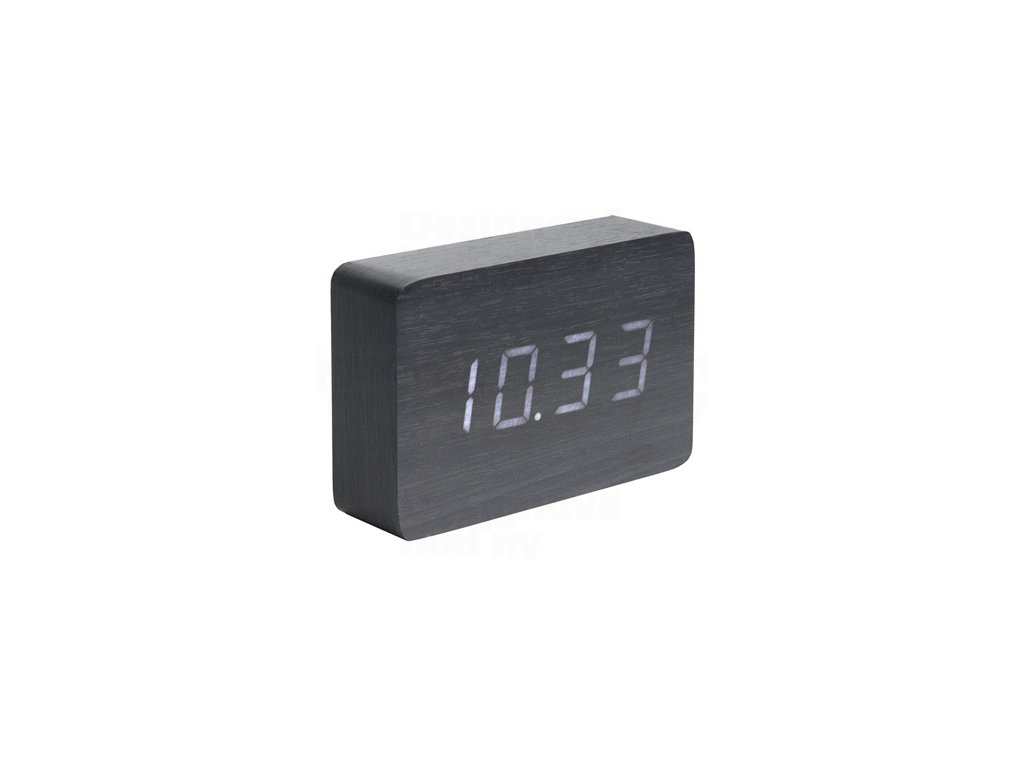 Designový LED budík - hodiny 5653BK Karlsson 15cm