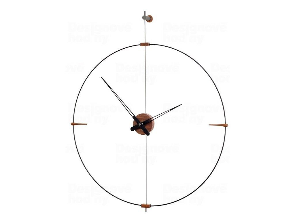 Designové nástěnné hodiny Nomon Bilbao Graphite Small 92cm