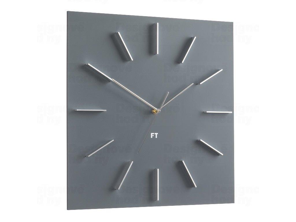 Designové nástěnné hodiny Future Time FT1010GY Square grey 40cm