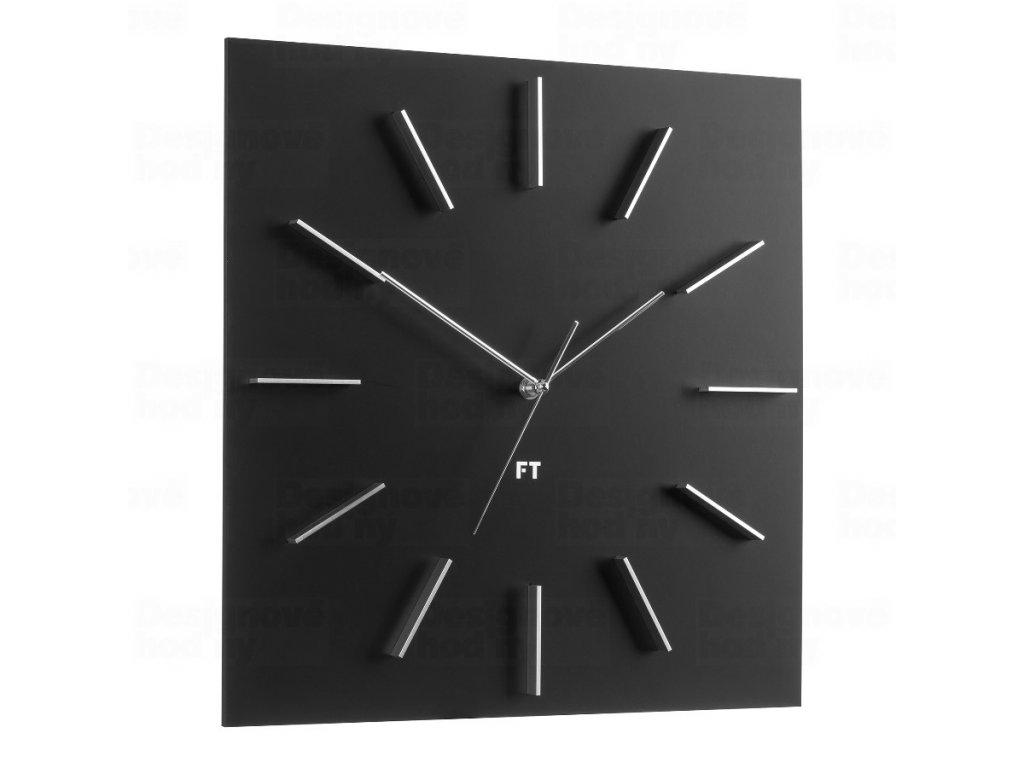 Designové nástěnné hodiny Future Time FT1010BK Square black 40cm