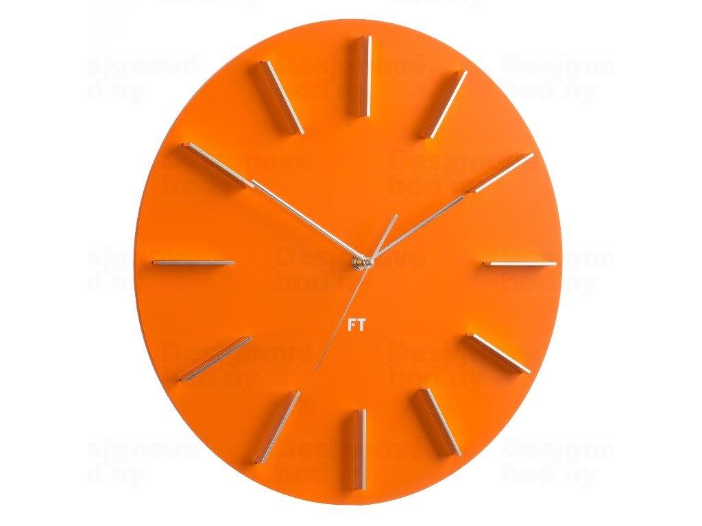 Designové nástěnné hodiny Future Time FT2010OR Round orange 40cm