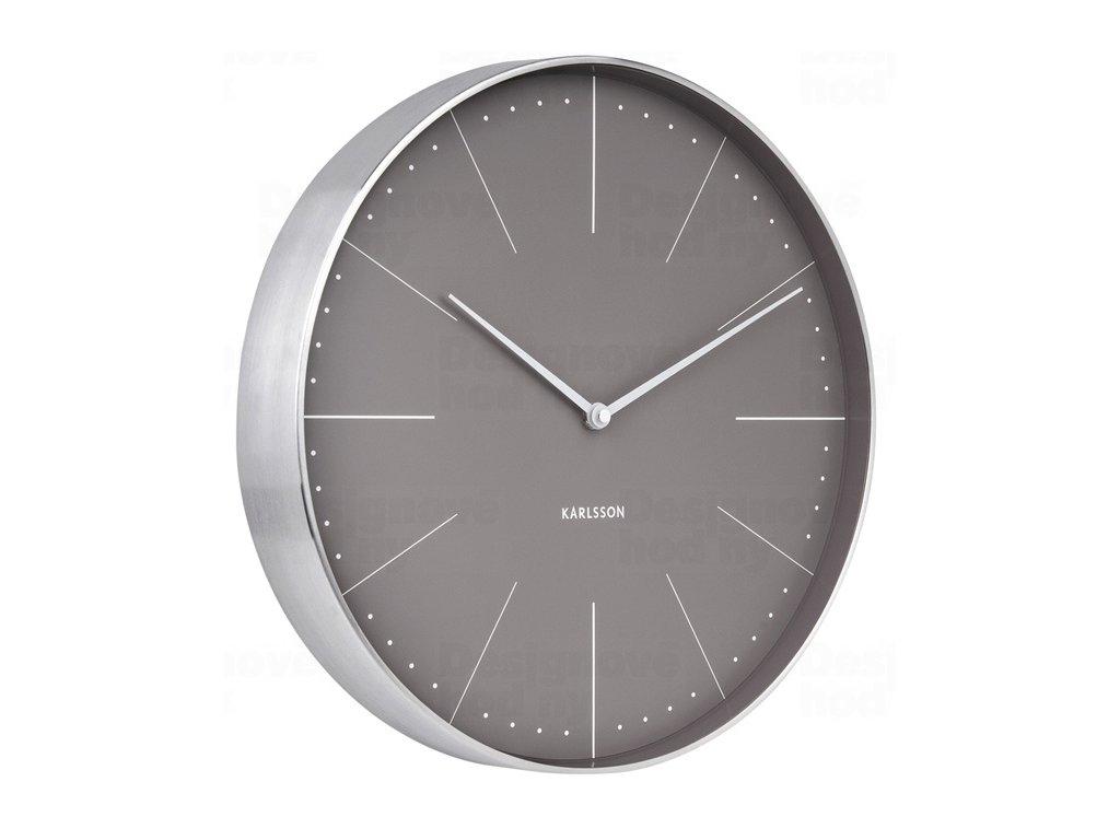 Designové nástěnné hodiny 5681GY Karlsson 38cm