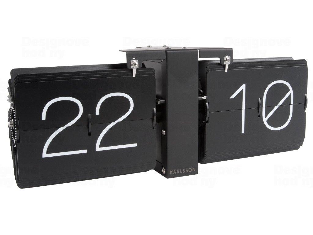 Designové překlápěcí hodiny KA5602BK Karlsson 36cm