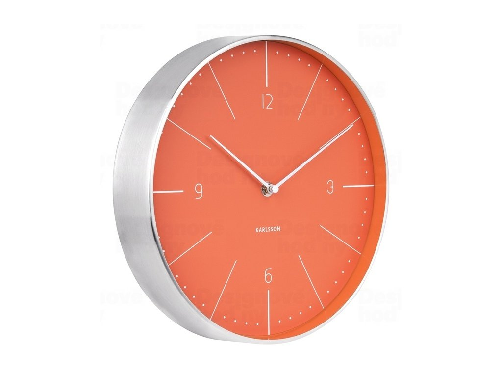 Designové nástěnné hodiny 5682OR Karlsson 28cm