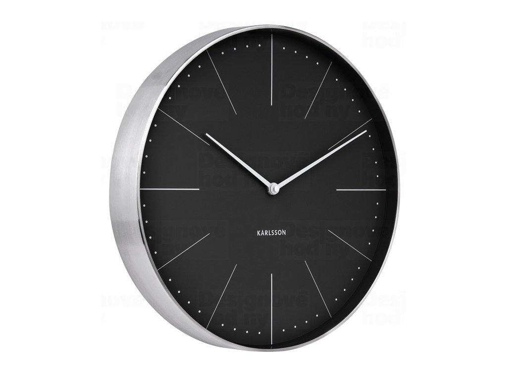 Designové nástěnné hodiny 5681BK Karlsson 38cm