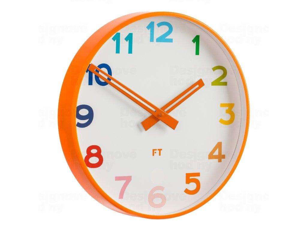 Dětské nástěnné hodiny Future Time FT5010OR Rainbow orange 30cm