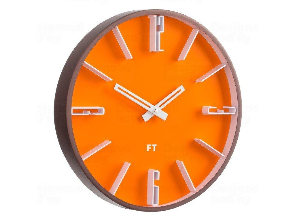 Designové nástěnné hodiny Future Time FT6010OR Numbers 30cm